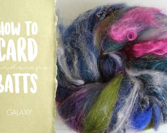 How to Card GALAXY Art Batt on a Drum Carder - One Technique from Carding Landscapes Masterclass