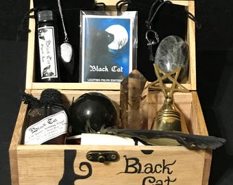 Ritual Kit Black Cat wicca Pagan Witchcraft spell Set Altar Ritual
