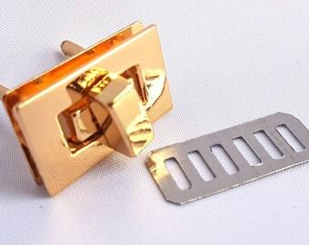 Gold Purse Twist Lock, Turn Lock, Bag Closure