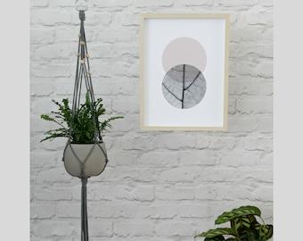 Plant hanger | Modern macramé | Hygge | Minimalist planter | Herb planter pot | Gift for him her women | Scandi | Retro boho bohemian