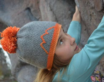 "Hand crocheted ""Ridgeline"" hat (adult size)"