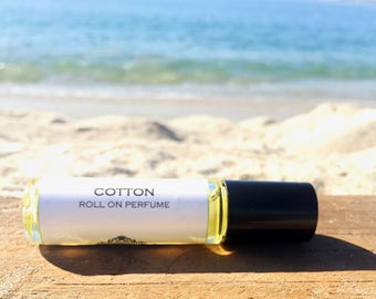 Mother's Day Gift // COTTON || Roll on Perfume || crisp clean and elegant fragrance ||  for Her || travels easy