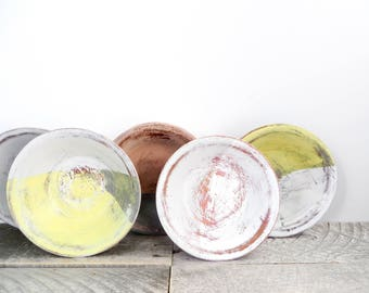 Shabby Chic Storage Bowls - 5 - Soft Pretty Neutral Colours - Modern Home Decor