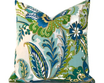 Pillow Covers ANY SIZE Decorative Pillow Cover Pillows Home Decor Richloom Gallery Ayers Lagoon