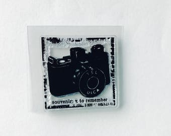 New - for Rubber Stamping, Handmade Cards & Scrapbooking 1 Clear Acrylic Stamp-- Camera #15