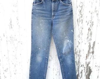 70s Lee Jeans 29 Waist Vintage Distressed Mom Jeans Lee Riders