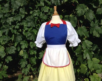 Snow White costume aprons, Snow White dress up costume aprons, Snow White apron costume aprons, cosplay, Disney costume