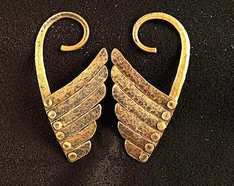 Copper Angel Wings #1 (Tunnel Hooks)