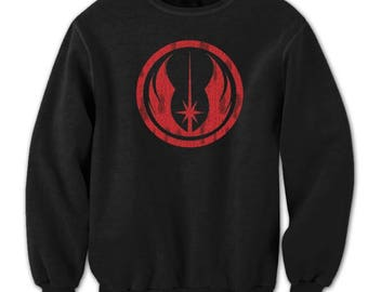 Jedi Order Retro Outfit Costume Symbol Ship Crewneck Sweatshirt DT0592