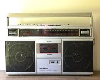 Vintage Midland AM FM Cassette Recorder Radio Stereo Boombox Rare Model 19-110