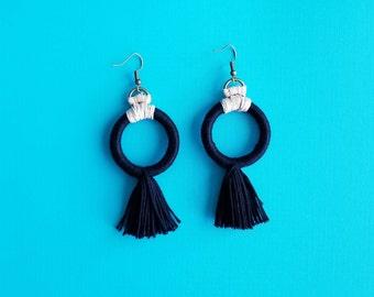 The Hooplah Tassel Earrings