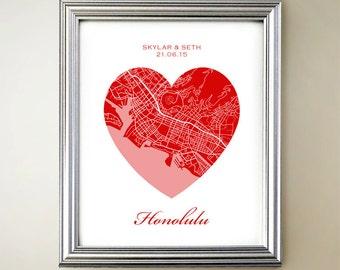 Honolulu Heart Map