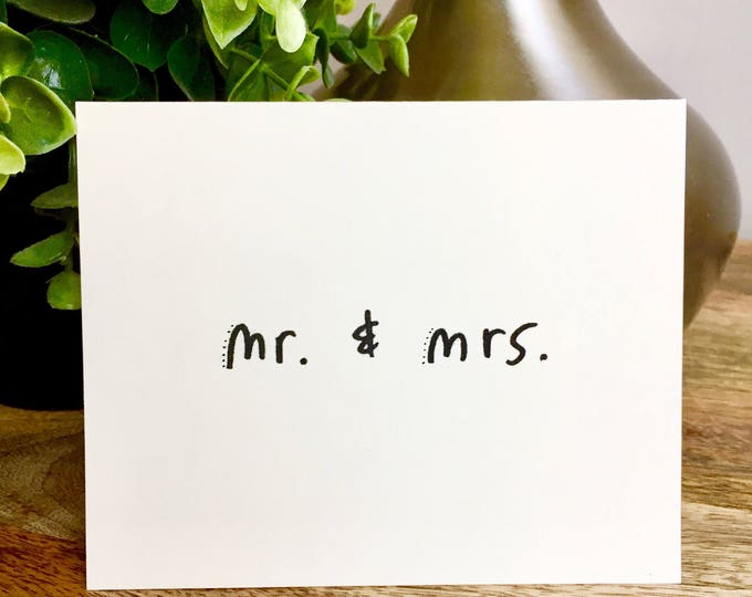 set of 10 notecards, Mr. And Mrs. thank you card, wedding thank you, Hand designed pattern note card, thank you wedding cards
