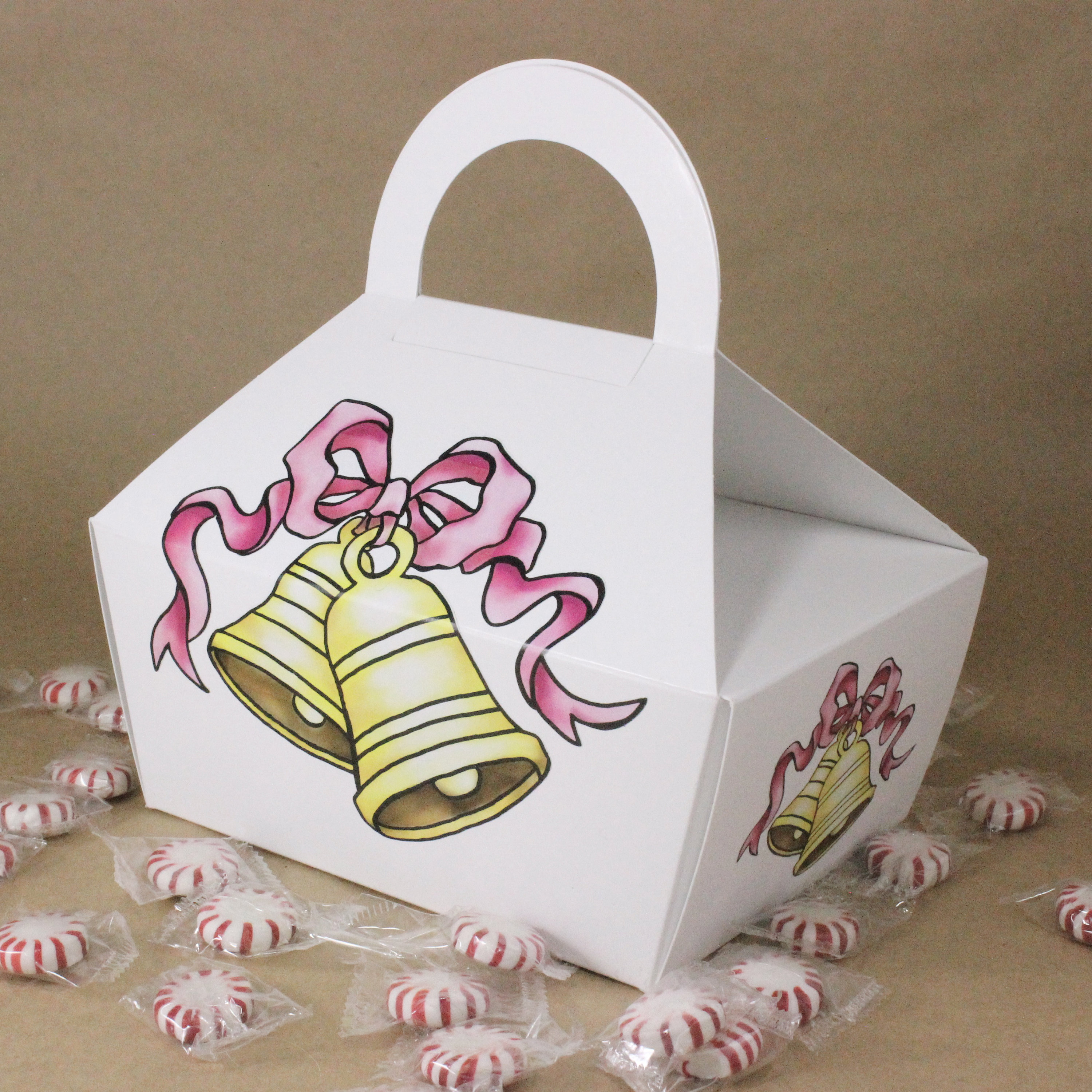 Four Favor Boxes/Wedding Bell Design/Party Favor Boxes/Treat Boxes ...