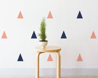 Pastel Triangles | Removable Wall Decal & Sticker for Home, Office, Nursery