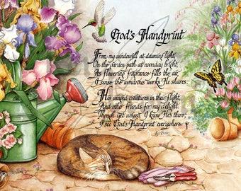 """Ken Brown Calligraphy """"God's Handprint"""""""