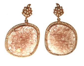 Pink Aventurine Earrings--Aventurine Earrings--Pink Earrings
