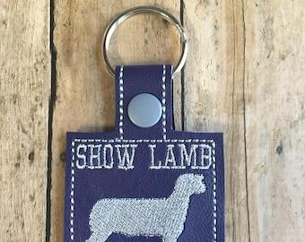 Show Lamb Keychain, 4H, Purple and Gray