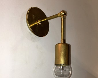 Single Engine Brass Sconce