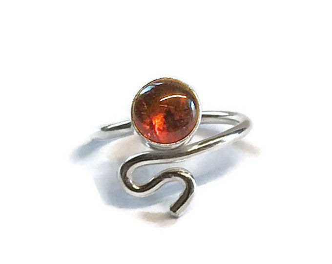 Amber Adjustable Ring