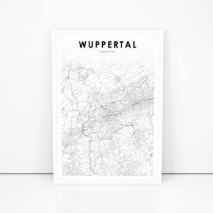 Wuppertal city map Etsy