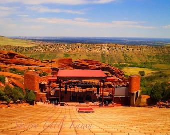 Red Rocks Amphitheater 8 x10 Glossy Fine art Photography Print, Denver, Colorado