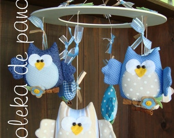 Children mobile owls - PDF Pattern