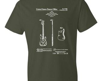 Fender Patent T Shirt - Patent Shirt, Musician Shirt, Music Art, Fender T Shirt, Musician Gift, Guitar T-Shirt, Fender Guitar Patent