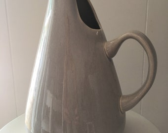 Russel Wright Water Pitcher ~ Mid Century Pitcher ~ America Modern China ~ Russel Wright Gray Granite ~ Collectible China ~
