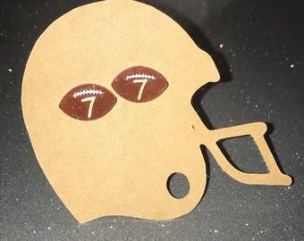 Football Earrings / Spirit Earrings