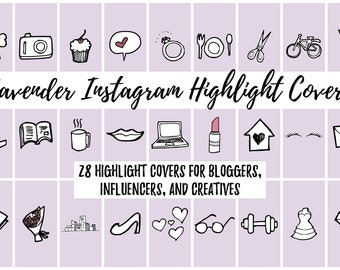 28 Lavender Instagram Story Highlight Cover Icons for Bloggers, Influencers, and Creatives