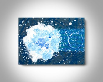 Small Acrylic Abstract Painting - 7 x 5 Canvas Painting, Wall Painting, Home Decor, Art by Brian Hill