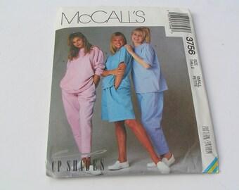 Vintage McCalls Pattern 3756 Misses Top Pants Shorts
