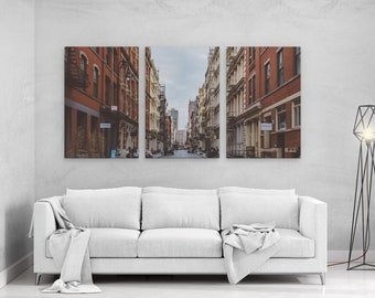 SOHO Manhattan New York - panels art canvas print wall home decor interior design
