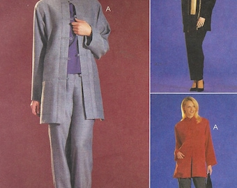 Sew News Womens Oriental Style Jacket, Top & Pull On Pants McCalls Sewing Pattern 2906 Size 12 14 Bust 34 36 UnCut Sewing Patterns