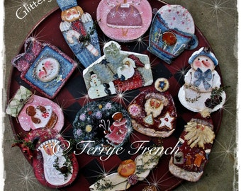Glitz and Glittery Ornaments , Terrye French, email pattern packet