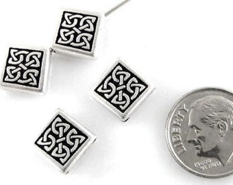 TierraCast Pewter Beads-Silver Medium CELTIC DIAMOND (4)