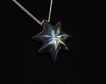 Northern Star necklace pendant or brooch