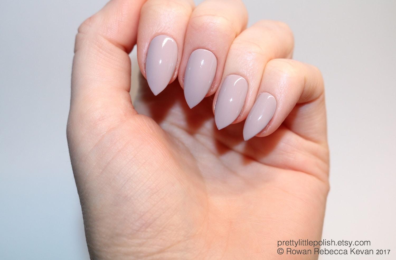 Mocha short stiletto nails Fake nail Stiletto nail Kylie