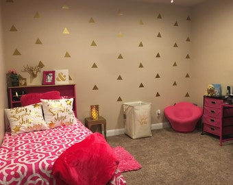 Gold Triangle Wall Decal
