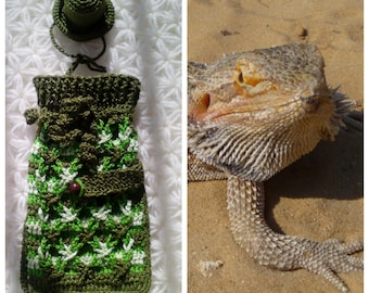 Bearded dragon costume / Beardie sweater and hat