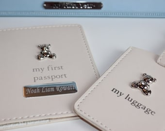 Personalised My First Passport Holder & Luggage Tag