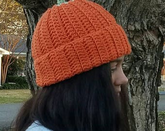 Ready to Ship-- Pumpkin Hat-- Teen, Small Adult, Large Child