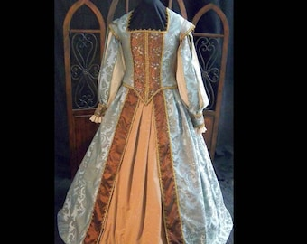 MADE to ORDER  Ladies Renaissance Elizabethan Court Gown Dress Costume, Your Size