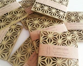 Art deco paper coaster - pack of 10 Paper craft, coaster, art deco