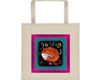 Tote bag, Woodland Art, Woodland Creature, Fox, Forest Aesthetic