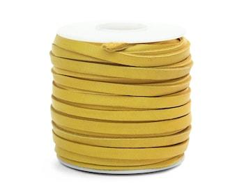Gold Deerskin Lacing - (1) 50 foot spool, 3/16th inch lace.  Deerskin lace. (297-316x50GD)