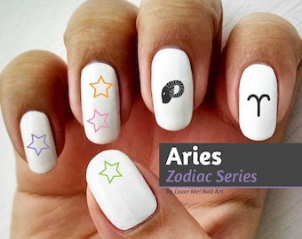 Aries Zodiac - Water Slide Nail Decals