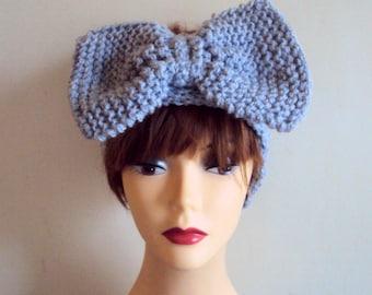 SALE! Big Bow Head Band Knit Wide Ear Warmer Yoga Headband Festival Headband Turban Knit Head Wrap