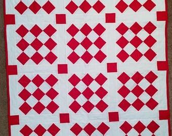 Crib size quilt - Red Bird
